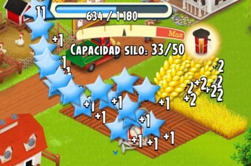 Capacidad de silo subiendo niveles